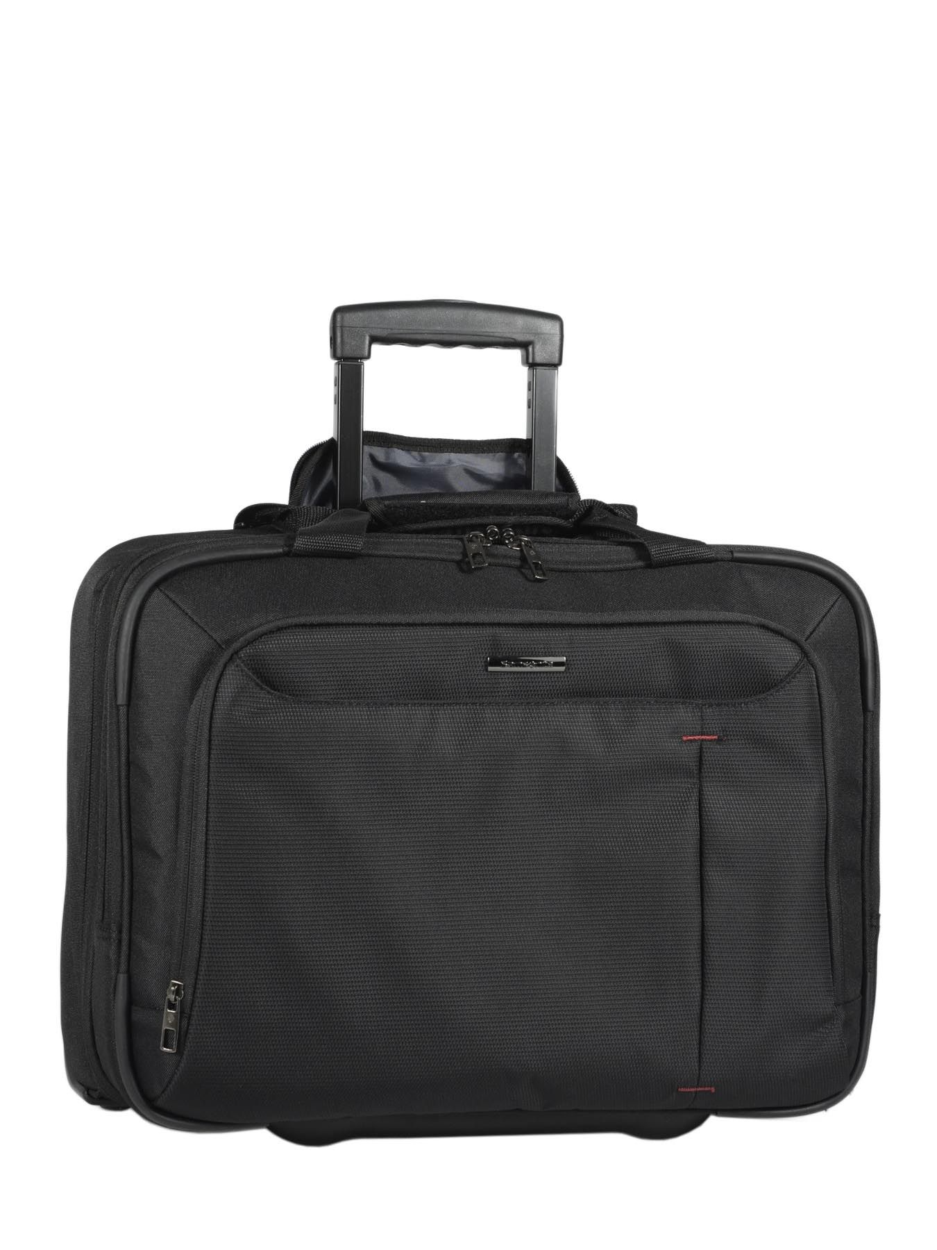 pilot case roulettes samsonite guardit black en vente au meilleur prix. Black Bedroom Furniture Sets. Home Design Ideas