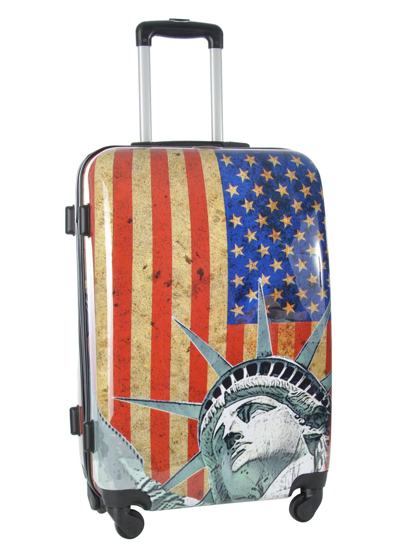 lot de valises travel print shinny multicolor i en vente. Black Bedroom Furniture Sets. Home Design Ideas