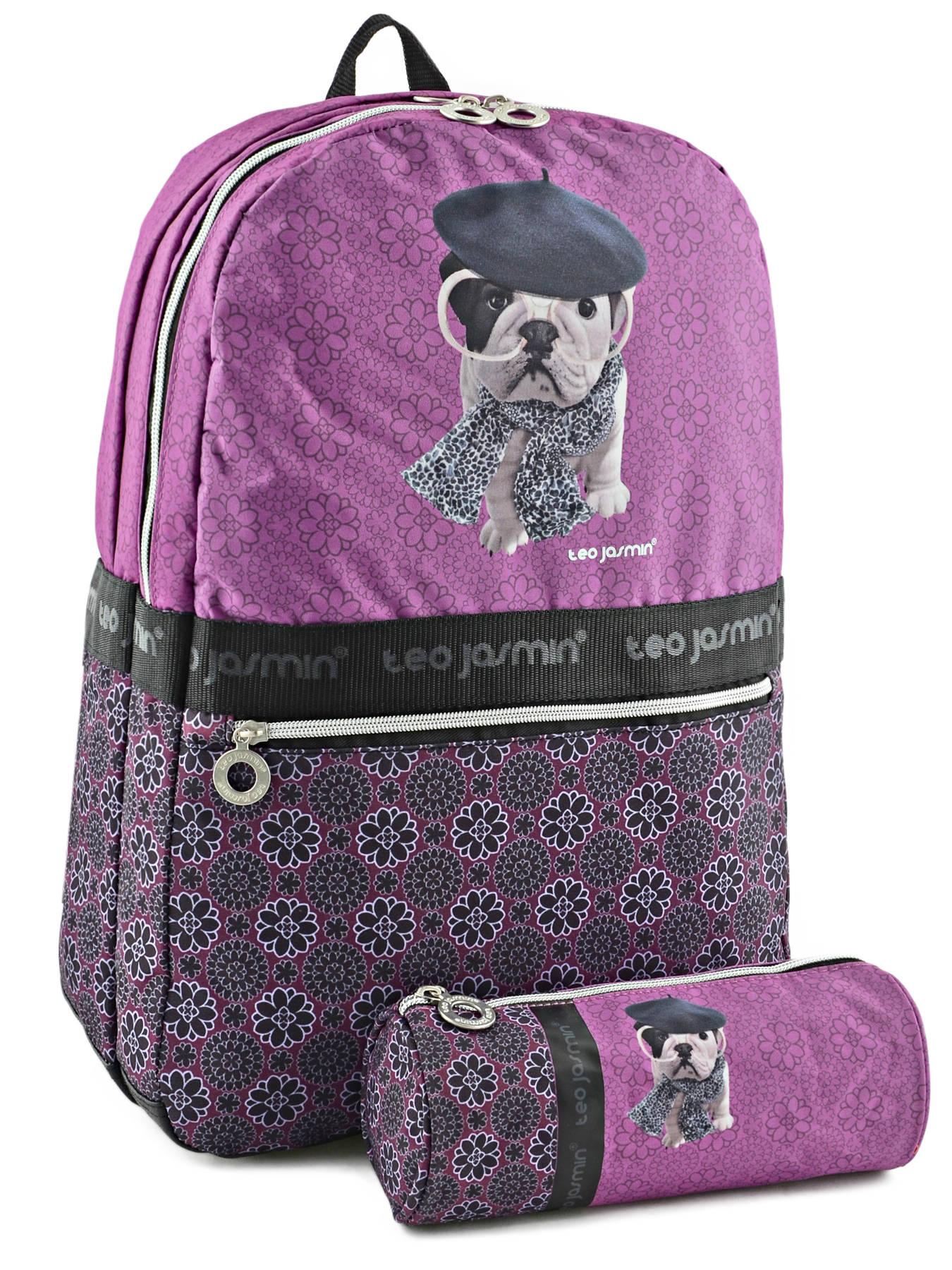 sac dos teo jasmin dog story violet en vente au meilleur prix. Black Bedroom Furniture Sets. Home Design Ideas