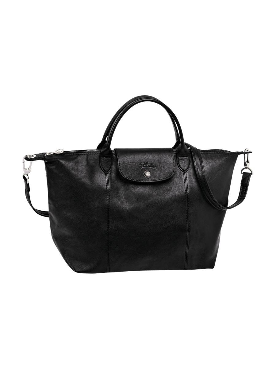 Sac Longchamp Noir Le Pliage : Sac port main longchamp le pliage cuir en