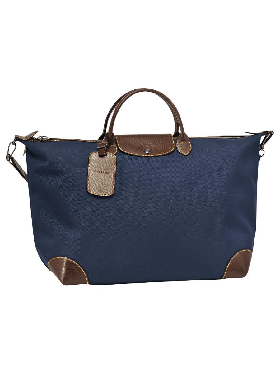 sac de voyage longchamp boxford bleu en vente au meilleur prix