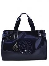 Cabas Vernice Lucida Verni Armani jeans Bleu vernice lucida 5291-55