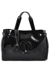 Shopping Bag Vernice Lucida Patent Armani jeans Black vernice lucida 5291-55