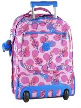 Sac A Dos A Roulettes 2 Compartiments Kipling Rose back to school 15359