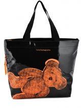 Sac Porte Epaule A4 Lulu castagnette Orange fluo bear LVX25275