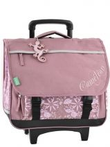 Cartable A Roulettes 3 Compartiments Cameleon Rose basic girl 14F2CA41