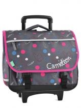 Cartable A Roulettes 3 Compartiments Cameleon Multicolore basic girl 14F2CA41