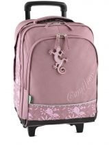 Sac A Dos A Roulettes 2 Compartiments Cameleon Rose basic girl 14F-2BOR