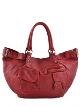 Shopping/cabas Master Cuir Ikks Rouge master BE95009