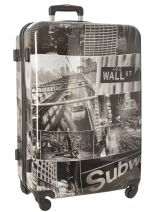 Hardside Luggage Print Shinny Travel Multicolor print shinny PT1920-L