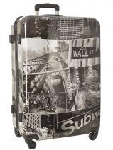 Hardside Luggage Print Shinny Travel Multicolor print shinny PT1920-L