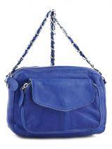 Sac Bandouliere Porte Travers Naina Leather Pieces Blue naina 17059919