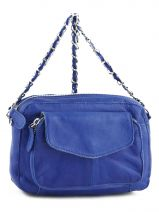 Cross Body Tas Naina Leder Pieces Blauw naina 17059919