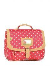 Cartable 1 Compartiment Tann's Red heritage pois 4POCA32