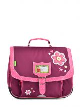 Cartable 1 Compartiment Tann's Violet collector fleur 4FLCA35