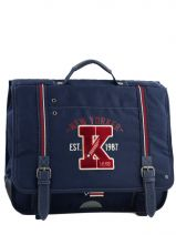 Cartable 2 Compartiments Ikks Bleu american college 4ACCA41