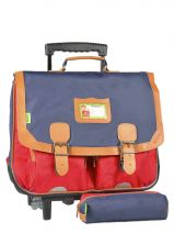 Cartable A Roulettes 2 Compartiments + Trousse Tann's kid classic 4CLTCA41