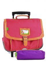 Schoolbag On Wheels Tann's Pink kid classic 14TCA38