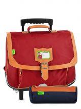 Schoolbag On Wheels Tann's Red kid classic 14TCA38