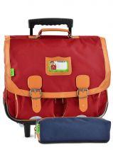 Schoolbag On Wheels Tann's Red kid classic 14TCA41