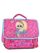 Cartable 2 Compartiments Barbie Rose time to shine B15