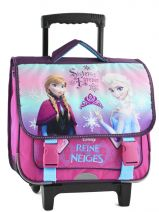 Cartable A Roulettes 2 Compartiments Reine des neiges Multicolore sisters forever F118