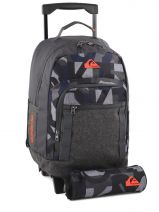 Sac A Dos A Roulette 2 Comp + Trousse Offerte Quiksilver Gris backpacks youth BBP03019