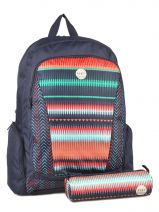 Sac A Dos 3 Compartiments+trousse Assortie Offerte Roxy Multicolore backpack JBP03112