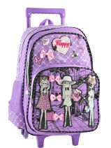 Sac A Dos A Roulettes 2 Compartiments Miniprix Violet girly T53517