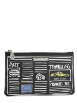 Trousse Cuir Barbara rihl Noir travel E011GIP