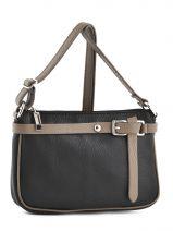 Shoulder Bag  Leather Milano Black G1421