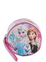 Porte Monnaie Frozen Pink elsa et anna 46841