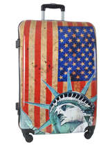 Hardside Luggage Print Shinny Travel Multicolor print shinny PT1520-L