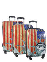 Lot De 3 Valises Rigides Print Shinny Print Shinny Travel Multicolore print shinny 1520-LOT