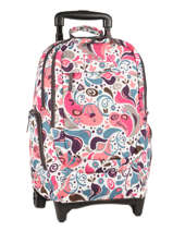 Sac A Dos A Roulettes 2 Compartiments Rip curl Rose drops LBPCY4
