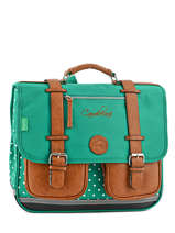 Cartable 2 Compartiments Cameleon Green vintage VINCA38
