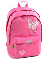 Sac A Dos 2 Compartiments + Trousse Offerte Tann's Pink butterfly 5BUSDMD