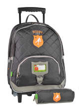 Sac A Dos A Roulettes 2 Comp + Trousse Offerte Tann's Gray rugby 5RUTSDL