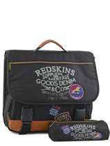 Cartable 2 Compartiments + Trousse Offerte Redskins Black denim REY13004