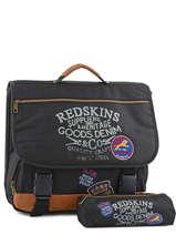 Cartable 2 Compartiments + Trousse Offerte Redskins Noir denim REY13004