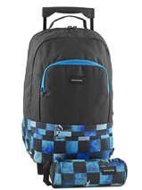 Sac A Dos A Roulettes 1 Compartiment + Trousse Quiksilver Bleu backpacks youth BBP03022