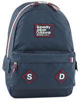 Sac A Dos 1 Compartiment Superdry Bleu backpack men U91007DN