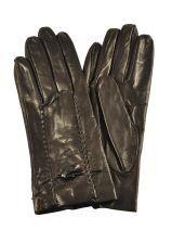 Gants Omega Marron soie M30 Paire de gants en v�ritable cuir d'agneau. Le savoir faire italien !